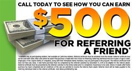 Ask about $500.00 referral