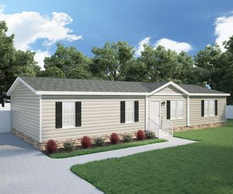 The ANSWER M375 Exterior. This Manufactured Mobile Home features 4 bedrooms and 2 baths.