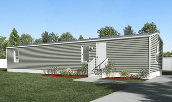 The BLISS Exterior. This Manufactured Mobile Home features 2 bedrooms and 1 bath.