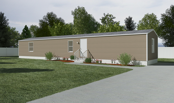 The EUPHORIA Exterior. This Manufactured Mobile Home features 3 bedrooms and 2 baths.