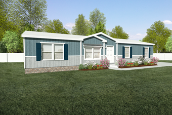 The THE ANNIVERSARY 3.0 Exterior. This Manufactured Mobile Home features 3 bedrooms and 2 baths.