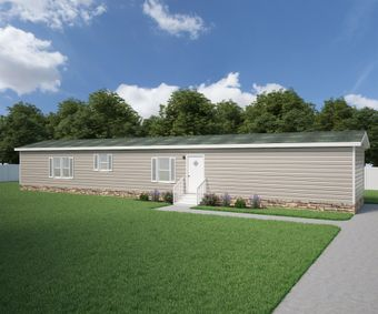 The THE ANNIVERSARY ANN16763A Exterior. This Manufactured Mobile Home features 3 bedrooms and 2 baths.