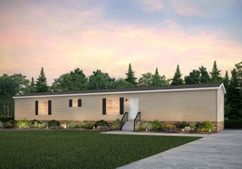 The THE A.T.S Exterior. This Manufactured Mobile Home features 3 bedrooms and 2 baths.