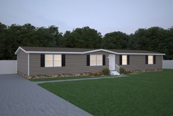 The WONDER Exterior. This Manufactured Mobile Home features 4 bedrooms and 2 baths.