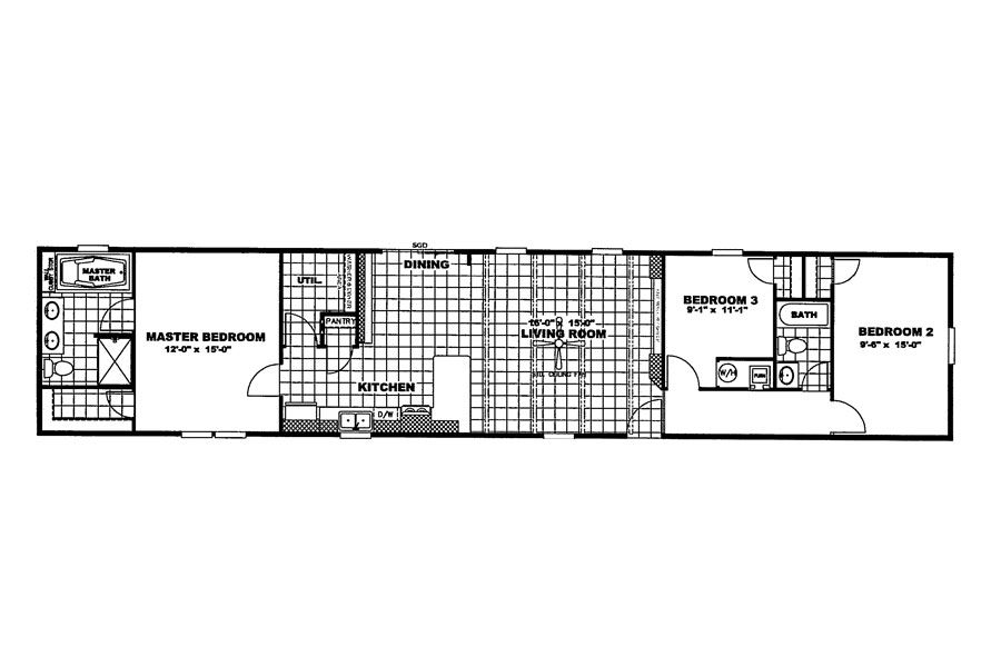 Clayton Homes Home Plans on Single Wide Mobile Home Floor Plans