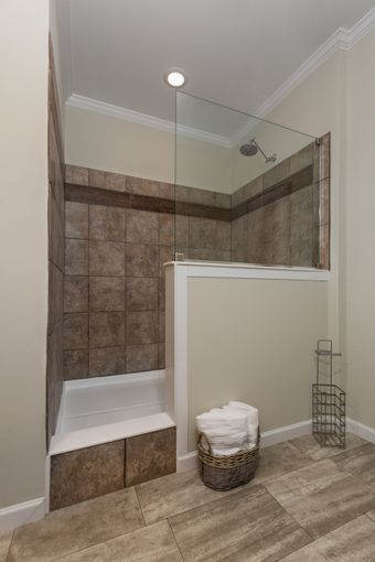 The THE KENNESAW Master Bathroom. This Manufactured Mobile Home features 4 bedrooms and 2 baths.