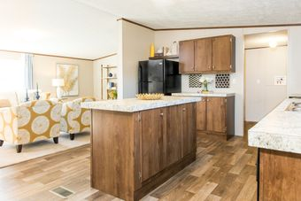 The WONDER Kitchen. This Manufactured Mobile Home features 4 bedrooms and 2 baths.