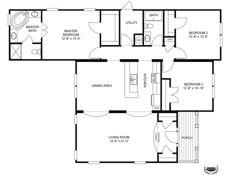 14×70 Mobile Home Floor Plan schult home floor plans skyline floor plans ~ home plan and house